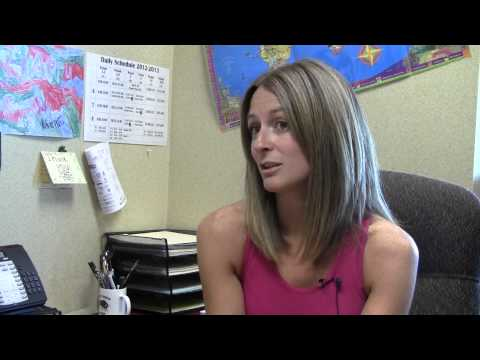 Counselor Amy Meier on anti-bullying projects at Cheney Middle School