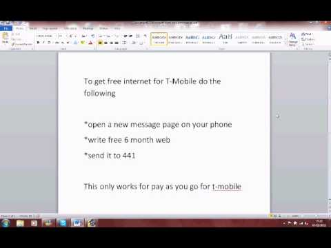 how to get free internet on t-mobile works 100%