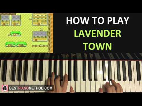 HOW TO PLAY - Pokemon Silver/Gold/Crystal - Lavender Town (Piano Tutorial Lesson)