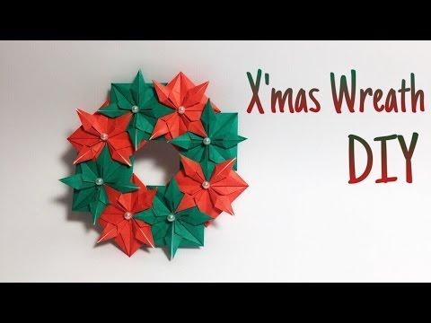 Christmas Wreath Origami tutorial !!
