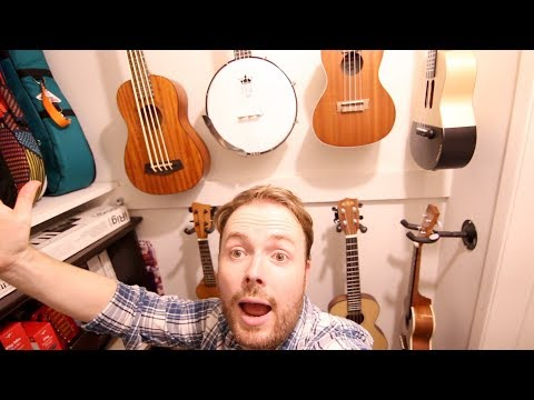 THE UKULELE TEACHER PLAYS HIS FAVOURITE UKULELES... and ELECTRIC GUITAR!