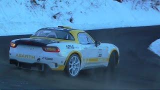 Rallye Monte Carlo 2017 - TEST FIAT 124 ABARTH - SHOW & SPINS