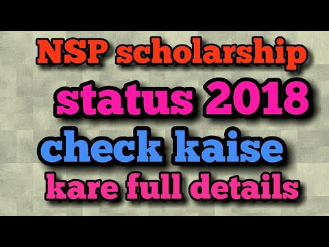 nsp scholarship status 2018 pfms online check application student
