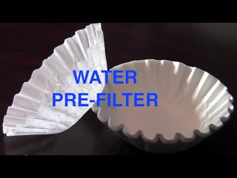 Prepping Tip: Water Pre-Filter