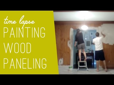 Painting Our Kitchen's Wood Paneling