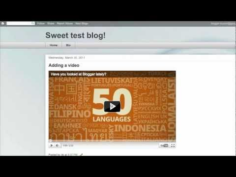 How to add a Youtube video to your blog