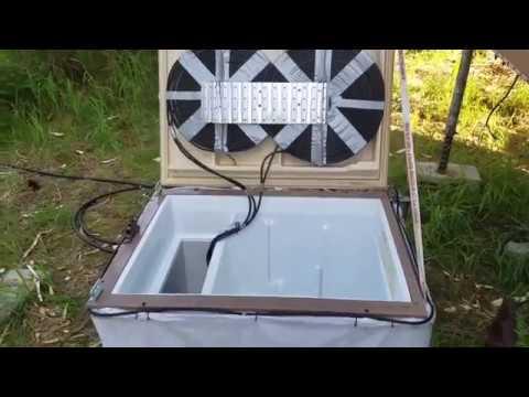 Homemade OFF-GRID Refrigerator, built for a Tiny House.
