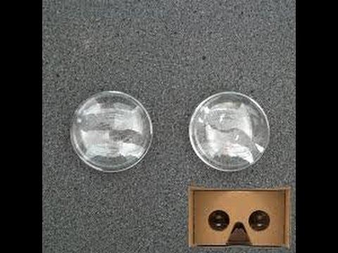 How to make lenses for VR headset