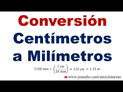 Convertir de Centímetros a Milímetros (cm a mm)