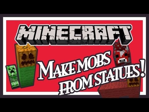 Spawn any mob in Survival Mode on Minecraft - Creature Statues Mod Showcase