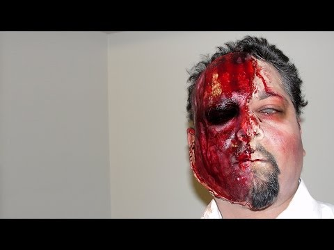 Two-face Zombie Makeup Timelapse  Tutorial