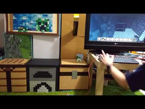 Light Up a Real-world Minecraft Furnace with Flotilla & Minecraft Pi