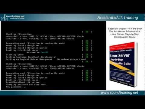 How to Recover (Reset) the Linux Root Password:  Linux Server Training 101