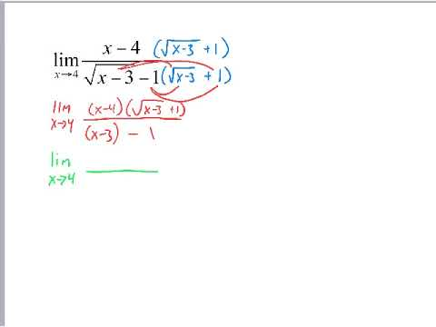 Solving Limits with Conjugates