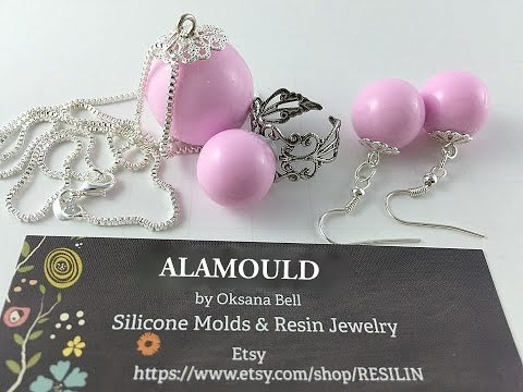 Resin Tutorial. How to create Resin Jewelry Set in 35 minutes!