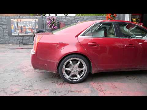 2008 CADILLAC CTS WITH 20 INCH CHROME RIMS & TIRES