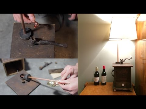 How To Make A Coffee Grinder Lamp