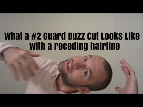 What a #2 Guard Buzz Cut Looks Like with a Receding Hairline
