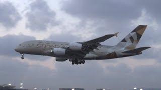 20,000 Subscribers! Enormous Etihad Airbus A380 landing in Mumbai