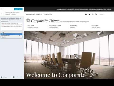 Corporate WordPress Theme: Setting Header Content (Step 1)