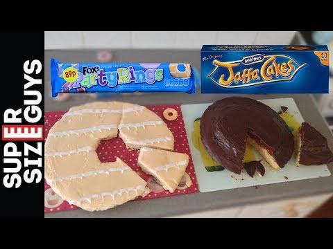 GIANT JAFFA CAKE & GIANT PARTY RING