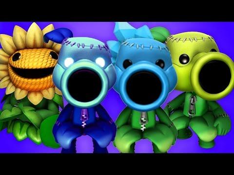 LittleBigPlanet 3 - Plants Vs Zombies Far Future - PvZ Peashooter Plasma Pea Vs Zombies