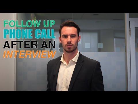 Follow Up Phone Call after an Interview