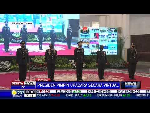 Jokowi Pimpin Upacara HUT Ke-74 Bhayangkara di Istana Negara