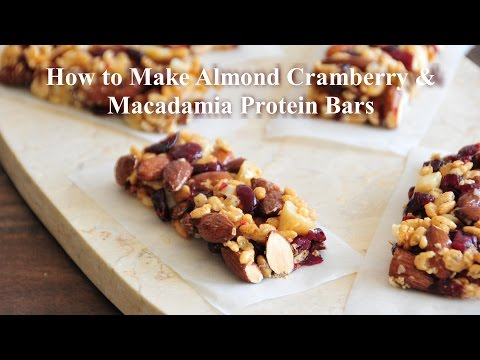 How to Make Almond Cranberry and Macadamia Protein Bars
