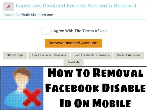 How To Remove Facebook Disable friends by All Video, allvideo