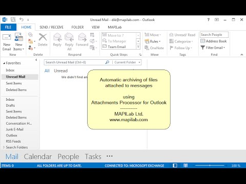 How to archive Outlook attachments automatically