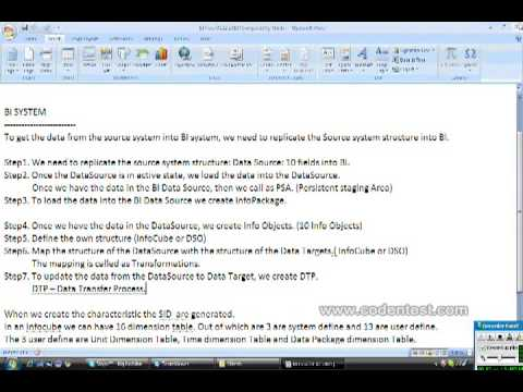 Data Flow in SAP BI Part 2