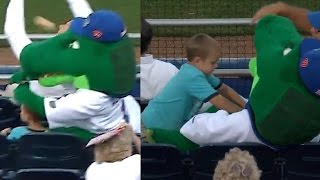 Florida Gators Mascot SAVES Boy from Softball   What