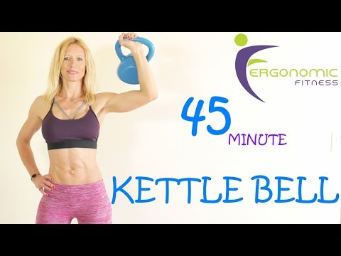 45 MINUTE KETTLE BELL WORKOUT -  BUILD MUSCLE, TONE AND SCULPT!