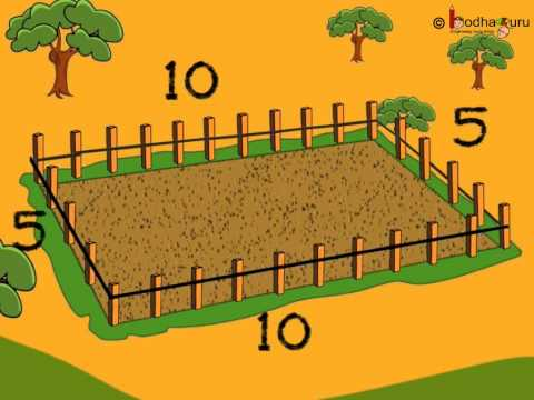 Maths - Perimeter of a Rectangle - Hindi