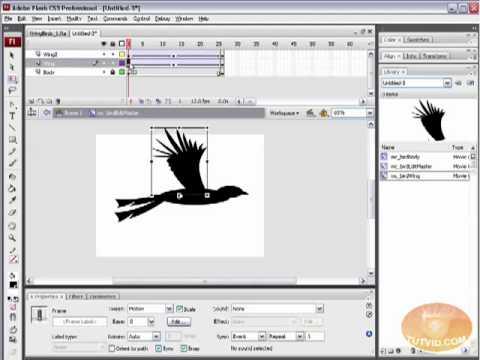 Dynamic Flying Birds: Flash Tutorial! Place Movieclips w/ AS 3.0