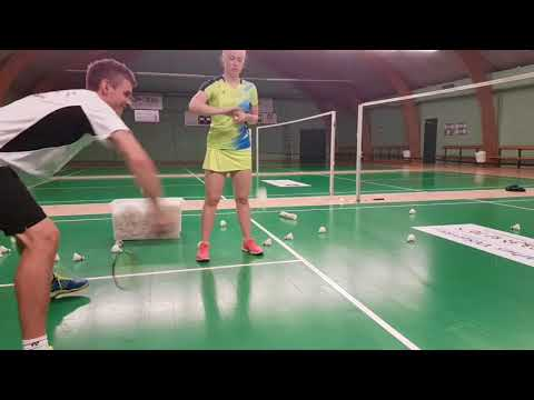 BADMINTON EXERCISE #14 - DOUBLE DEFENCE - IMPROVE POWER AND SPEED