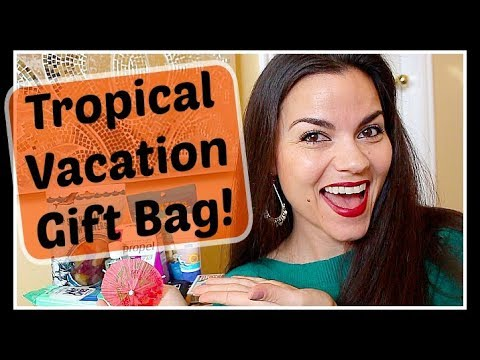 13 Items for a Tropical 🏝 Beach Vacation Getaway Gift Bag