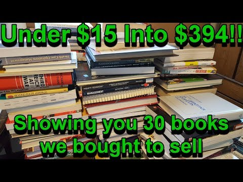 Selling Used Books On Amazon: $15 into $394 , 30 Books We Bought To Resell On Amazon