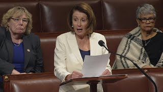Nancy Pelosi breaks record with eight-hour speech