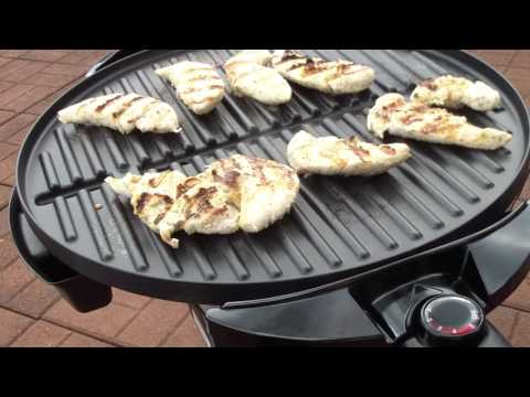 FIRST USE George Foreman 15 Serving Indoor/Outdoor Grill