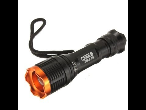 UltraFire KC-01 CREE XM-L T6 1800LM 6-Mode Zooming Lens LED Flashlight Torch Review & Teardown