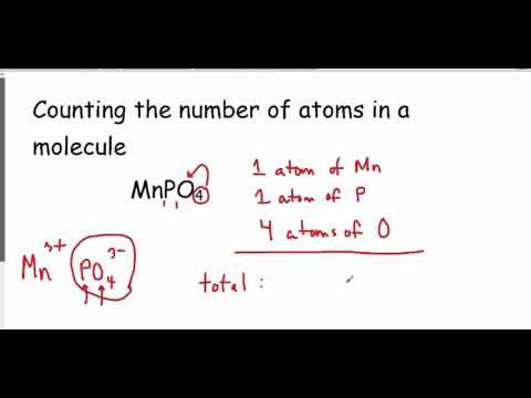 Counting the Number of Atoms in a Molecule