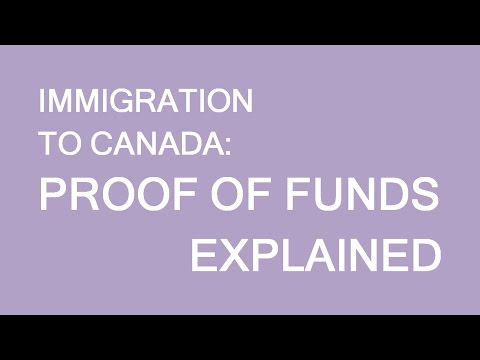 Proof of funds. Immigration Canada. LP group