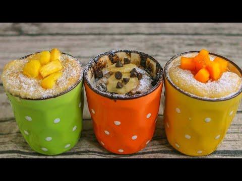 3 Easy Mug Cake Recipe | Eggless Mug Cake Recipe Without Oven