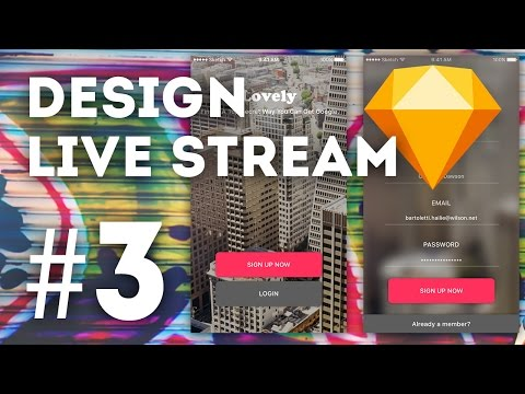 🔴 Design Live Stream • Starting a UI Kit in Sketch