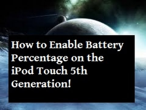 iPod Touch 5th - How To Enable Battery Percentage [1080p]