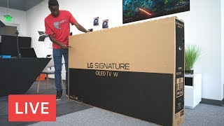 "LG 77"" Wallpaper TV Unboxing [LIVE]"
