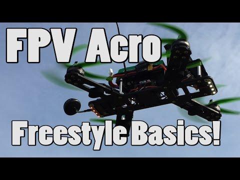 FPV Acro Freestyle Basics! Pop, drop, manoeuvre, catch.