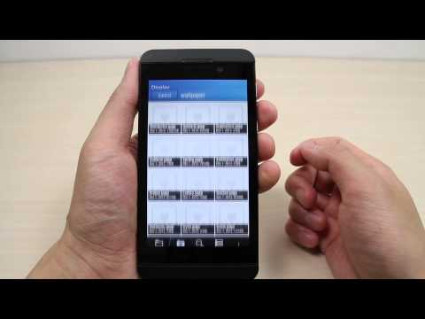 How to change the wallpaper on BlackBerry Z10